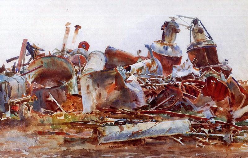 Разрушенный рафинадный завод. Джон Сингер Сарджент