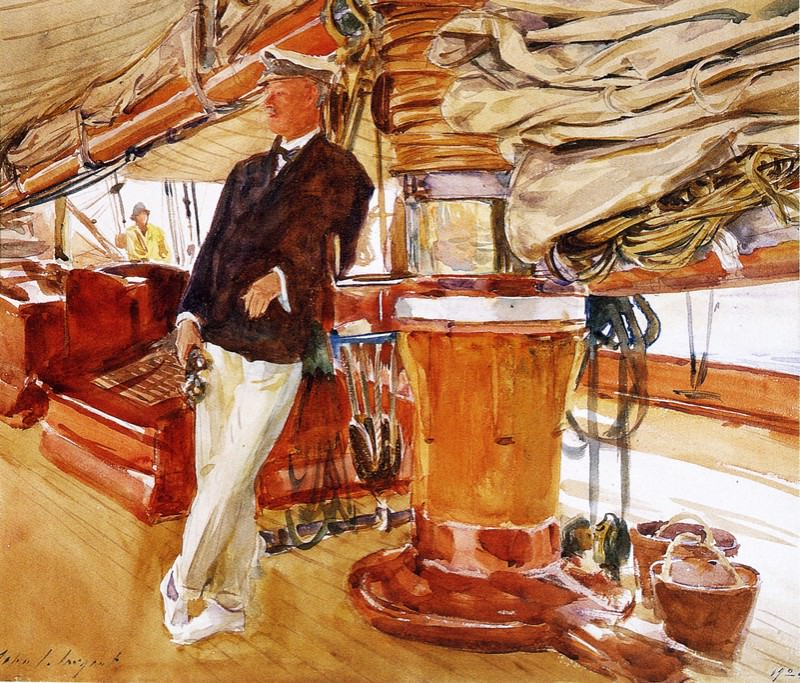 On the Deck of the Yacht Constellation. John Singer Sargent
