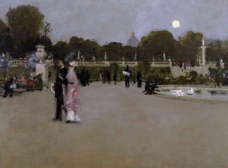 In the Luxembourg Garden. John Singer Sargent