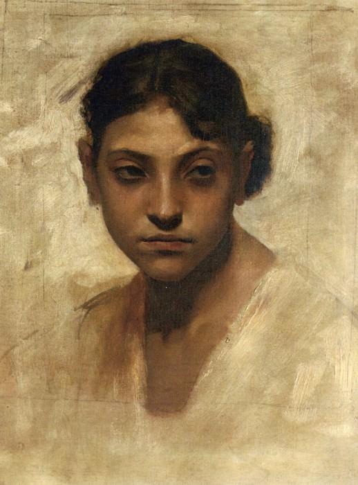 Head of a Capri Girl. John Singer Sargent