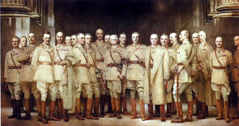 General Officers of World War I. John Singer Sargent