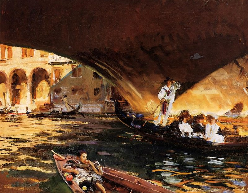 The Rialto (Grand Canal). John Singer Sargent