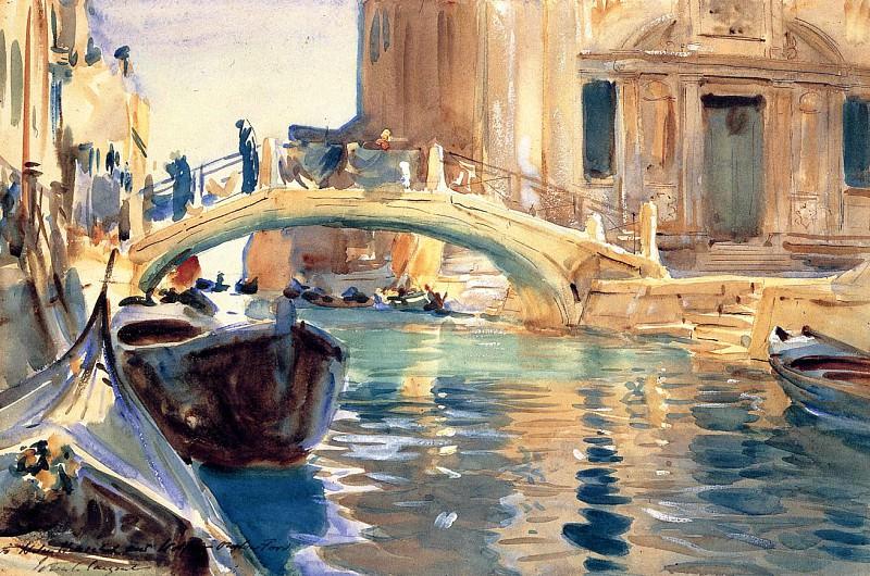Ponte San Giuseppe de Castello, Venice. John Singer Sargent
