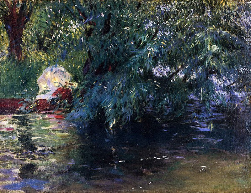 A Backwater, Calcot Mill near Reading. John Singer Sargent