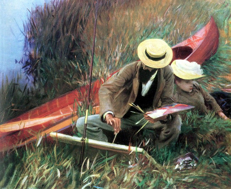 Paul Helleu Sketching with His Wife. John Singer Sargent
