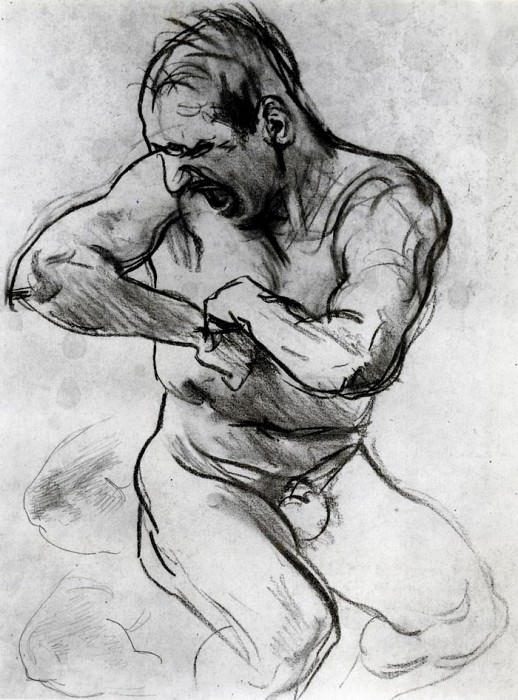 Man Screaming (also known as Study for Hell). John Singer Sargent