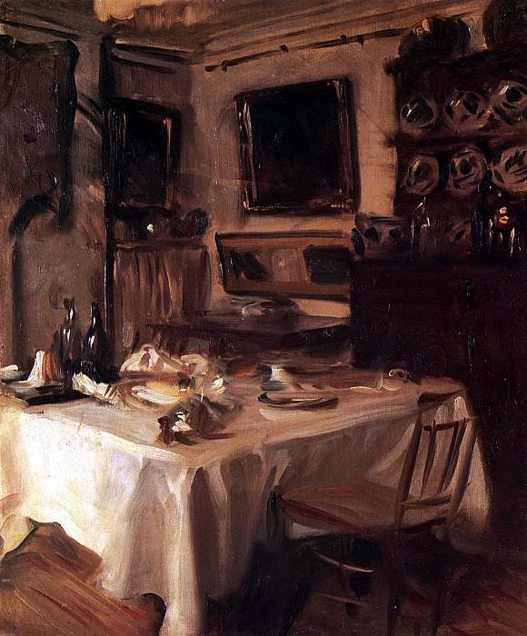 My Dining Room. John Singer Sargent
