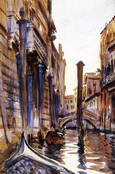 Side Canal in Venice. John Singer Sargent