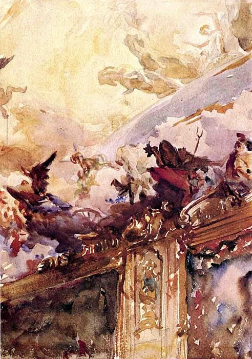 Tiepolo Ceiling, Milan. John Singer Sargent
