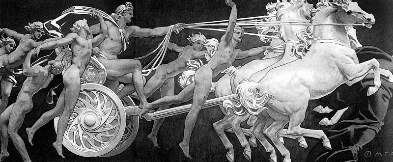 Apollo in His Chariot with the Hours. John Singer Sargent