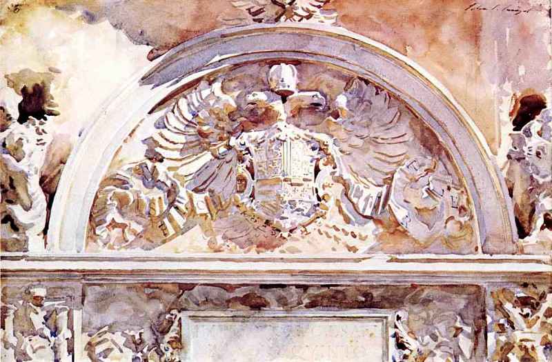 Escutcheon of Charles V. John Singer Sargent