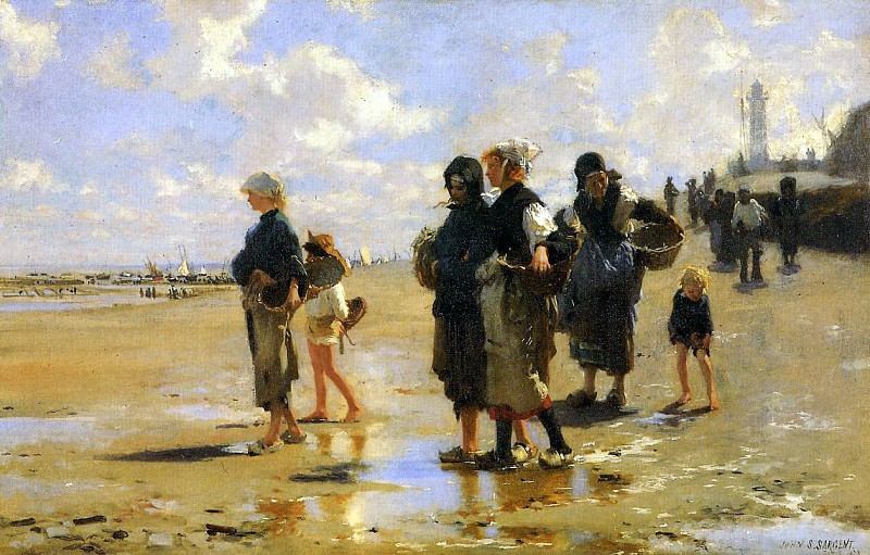 The Oyster Gatherers of Cancale. John Singer Sargent