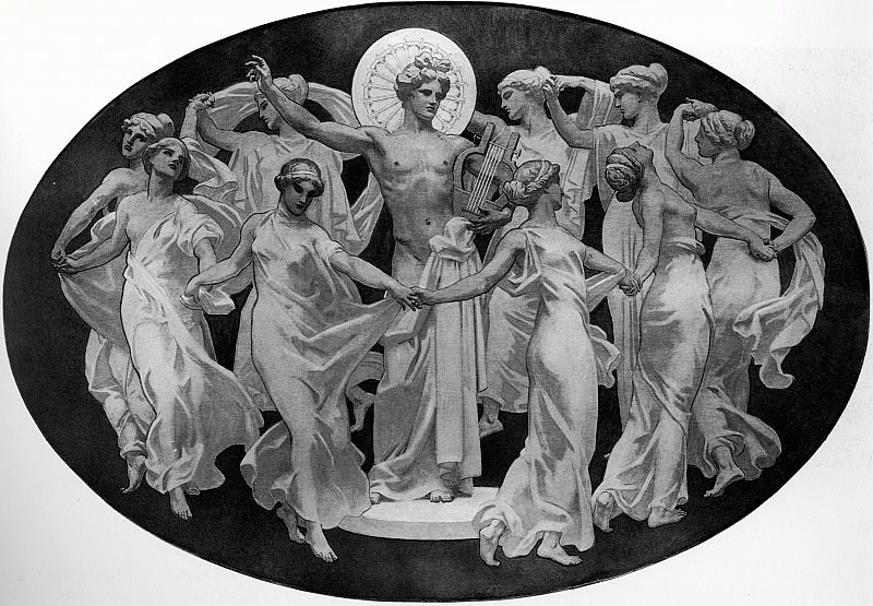 Apollo and the Muses. John Singer Sargent