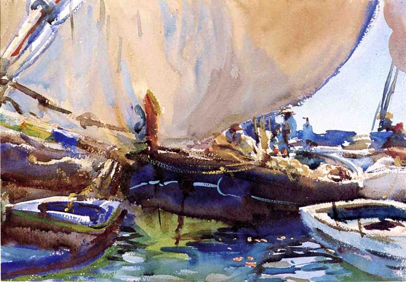 Melon Boats. John Singer Sargent