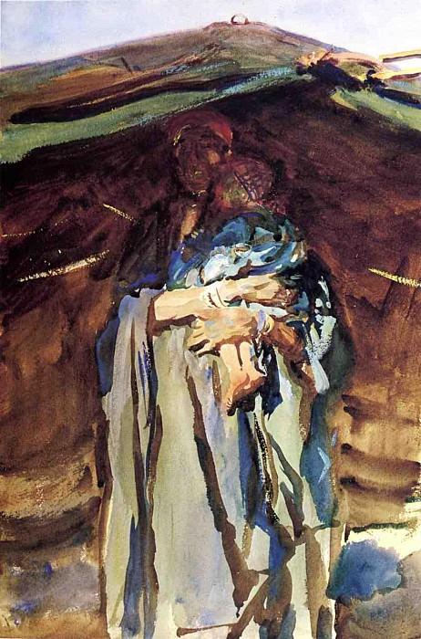Bedouin Mother. John Singer Sargent
