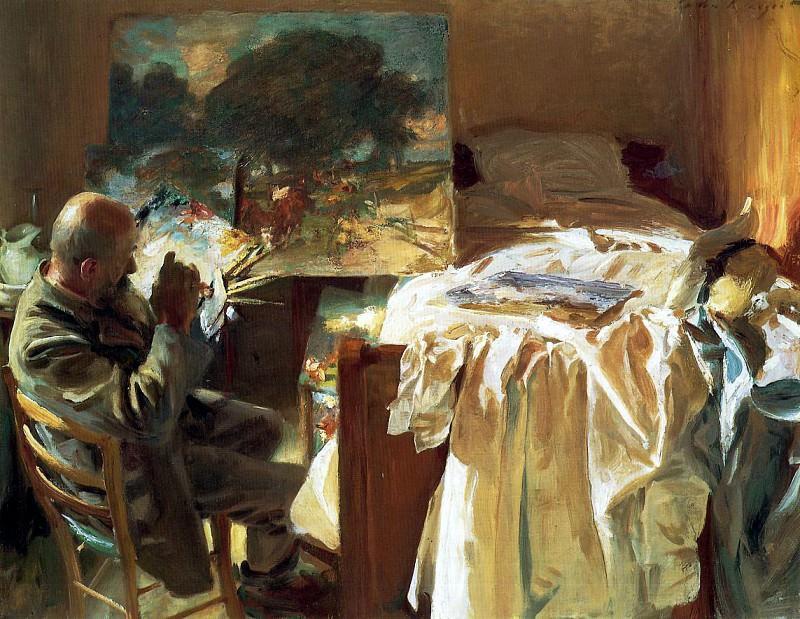 An Artist in His Studio. John Singer Sargent