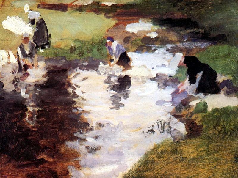 Washerwomen. John Singer Sargent