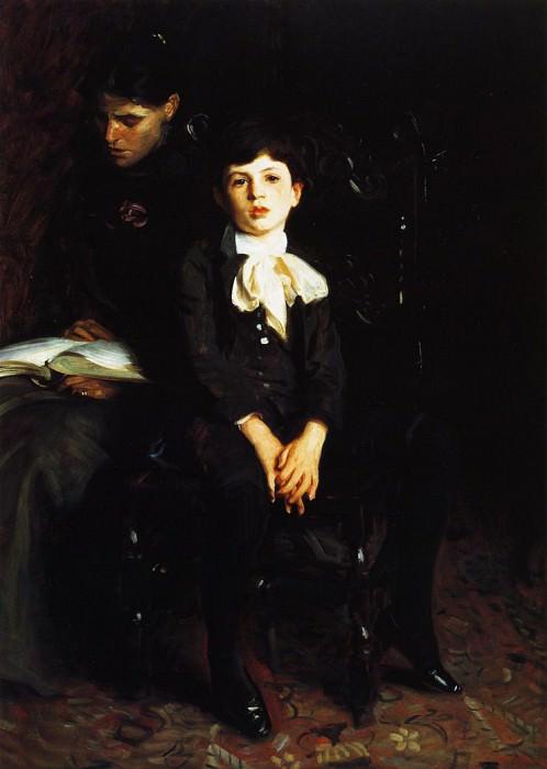Homer Saint-Gaudens and His Mother. John Singer Sargent