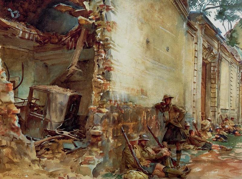 Street in Arras. John Singer Sargent