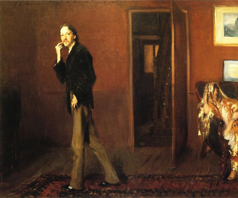 Robert Louis Stevenson and His Wife. John Singer Sargent