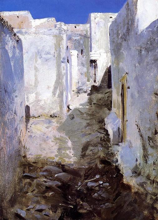 A Street in Algiers. John Singer Sargent
