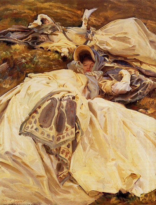 Two Girls in White Dresses. John Singer Sargent