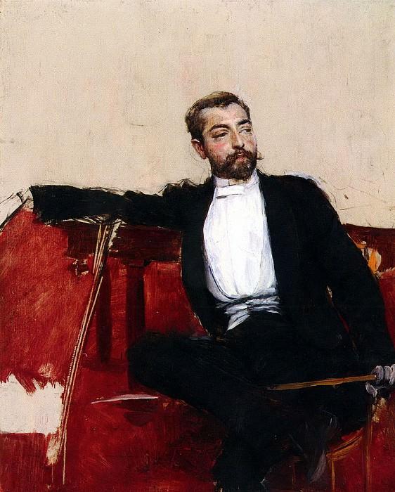 Giovanni Boldini (1842-1931) - A Portrait of John Singer Sargent. John Singer Sargent