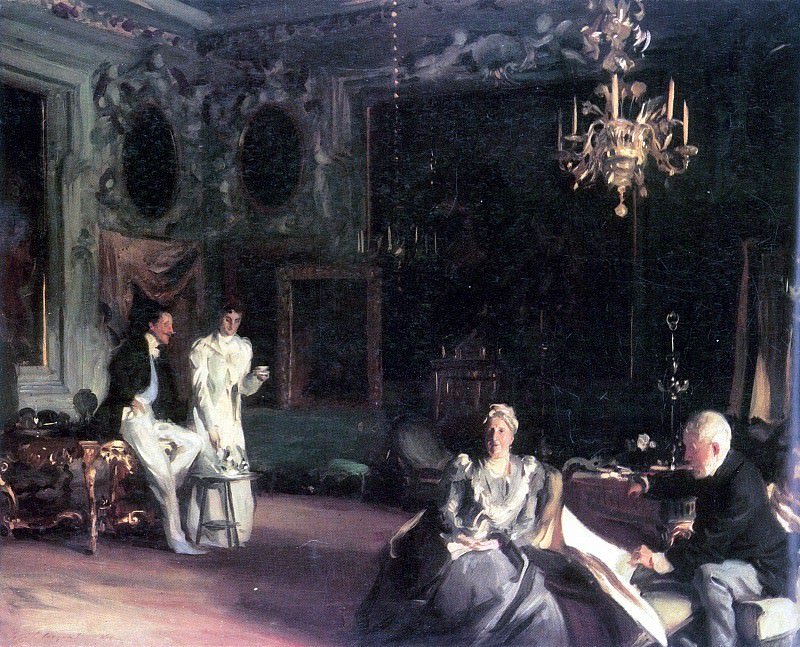 Interieur in Venedig. John Singer Sargent