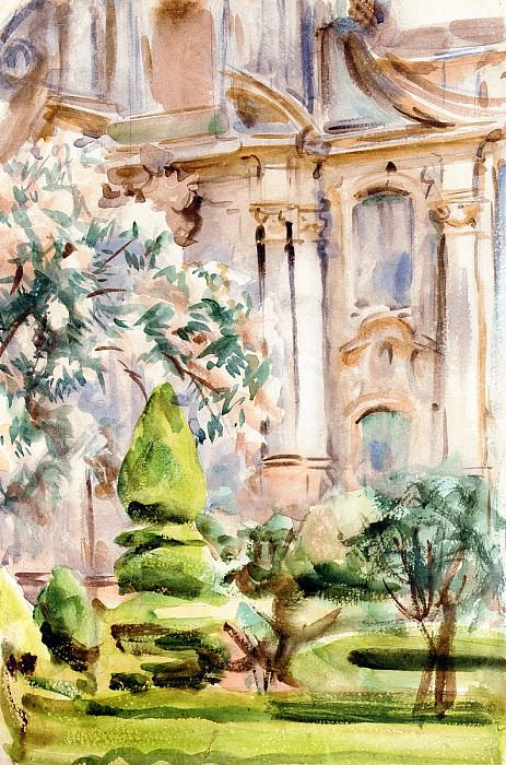 A Palace and Gardens, Spain. John Singer Sargent