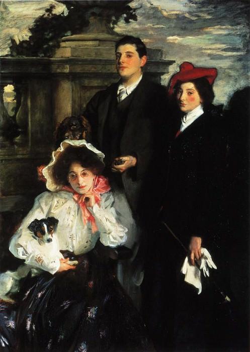 Hylda, Almina and Conway, Children of Asher Wertheimer. John Singer Sargent