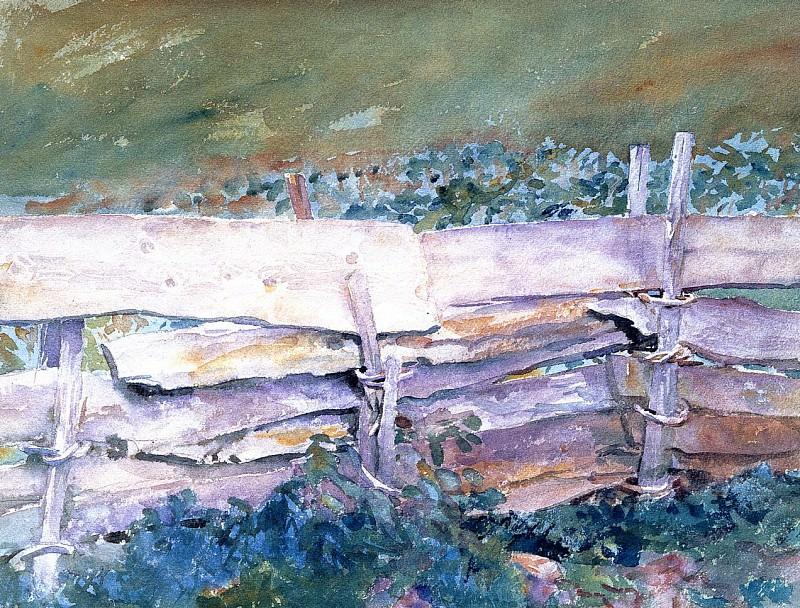 The Fence. John Singer Sargent