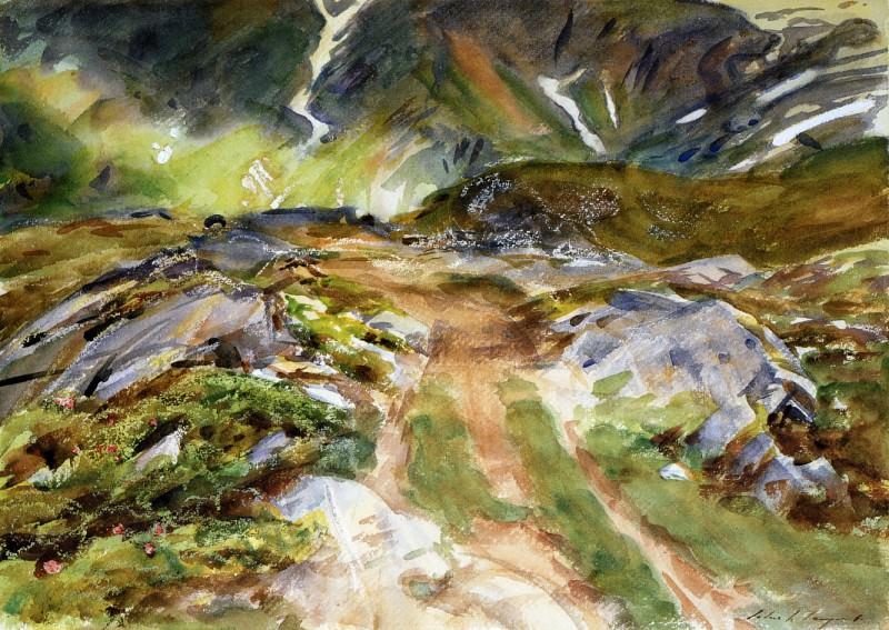 Simplon Pass. The Foreground. John Singer Sargent