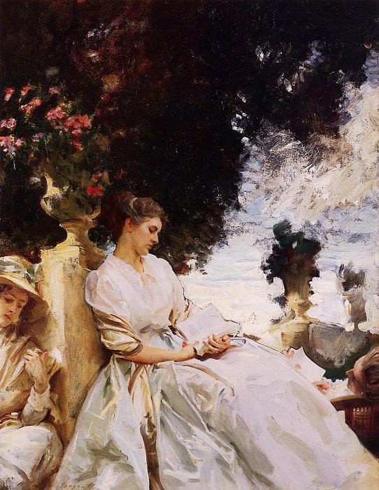 In the Garden, Corfu. John Singer Sargent