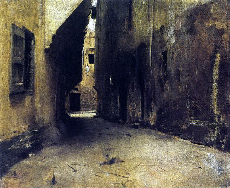 A Street in Venice. John Singer Sargent