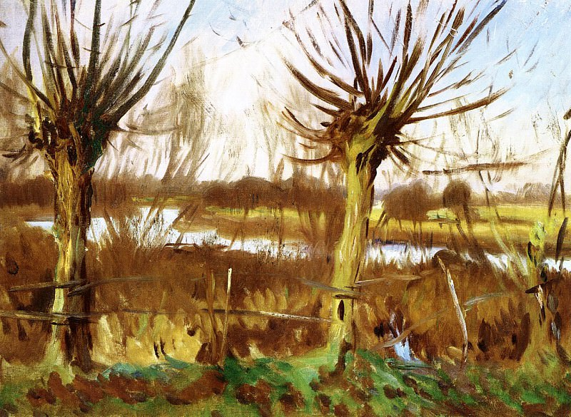 Landscape with Trees, Calcot. John Singer Sargent