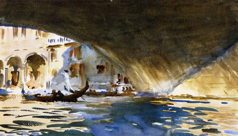 Under the Rialto Bridge. John Singer Sargent