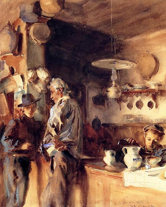 A Spanish Interior. John Singer Sargent