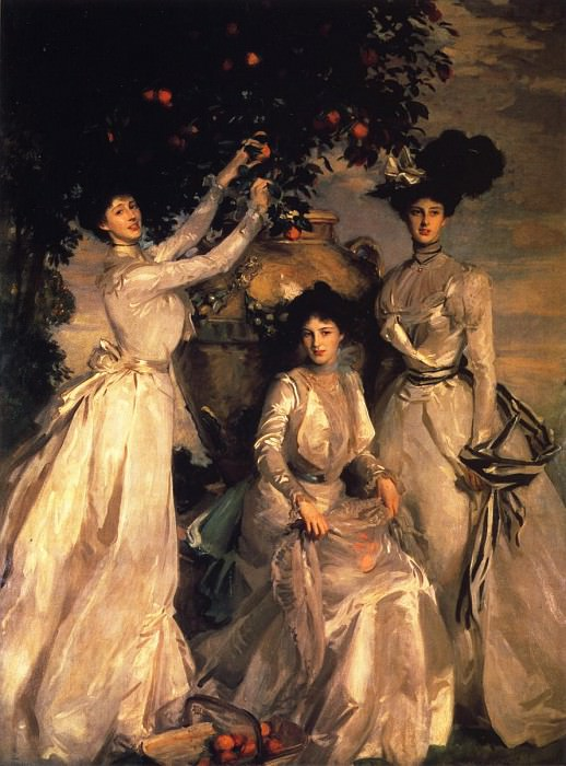 The Ladies Alexandra, Mary and Theo Acheson. John Singer Sargent