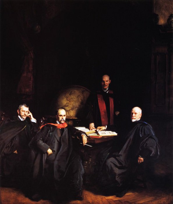 Professors Welch, Halsted, Osler and Kelly. John Singer Sargent