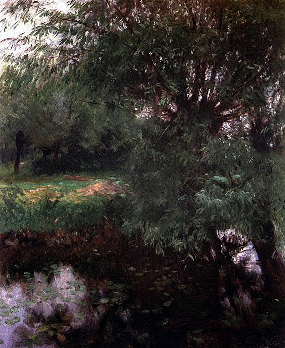 A Backwater at Wargrave. John Singer Sargent
