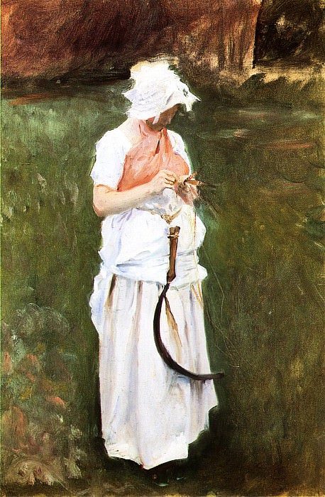 Girl with a Sickle. John Singer Sargent
