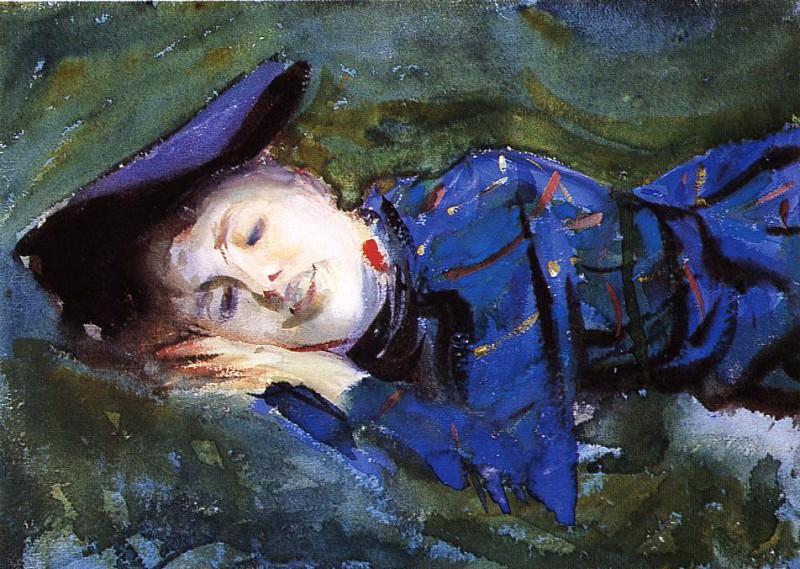 Violet Resting on the Grass. John Singer Sargent