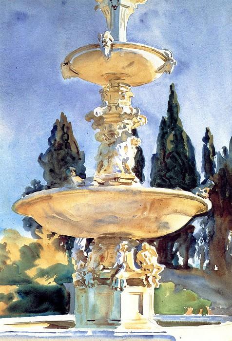 In a Medici Villa. John Singer Sargent