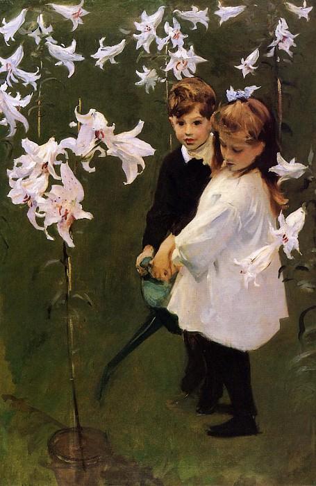 Garden Study of the Vickers Children. John Singer Sargent