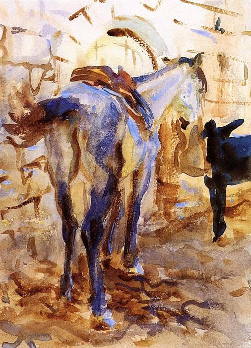 Saddle Horse, Palestine. John Singer Sargent