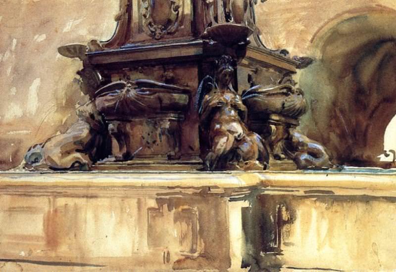 Bologna Fountain. John Singer Sargent