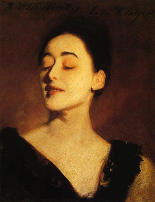 Flora Priestley (also known as Lamplight Study). John Singer Sargent