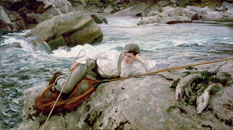 One His Holidays. John Singer Sargent
