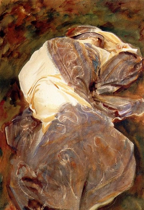 Reclining Figure. John Singer Sargent