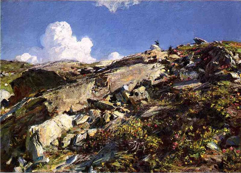 In the Alps. John Singer Sargent
